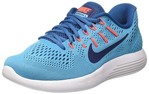 Nike Lunarglide 8, Scarpe Running Uomo, Turchese (Chlorine Blue/Binary Blue/Industrial Blue/Hyper Orange/White), 40 EU