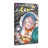 Anime Laid-Back Camp 2 - Póster de lienzo para pared (60 x 90 cm)