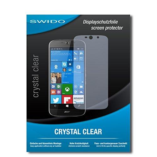 SWIDO Bildschirmschutz für Acer Liquid Jade Primo [4 Stück] Kristall-Klar, Hoher Festigkeitgrad, Schutz vor Öl, Staub & Kratzer/Schutzfolie, Bildschirmschutzfolie, Panzerglas Folie