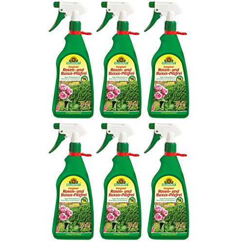 Neudorff GARDOPIA Sparpaket: 6 x 1 Liter Fungisan Rosen- und Buxus-Pilzfrei AF Anwendungsfertig Fungizid + Gardopia Zeckenzange mit Lupe