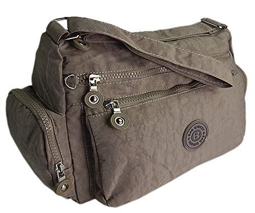 ekavale - Moderne damen Schultertasche für Shopper Freizeit Mittelgroß Umhängetasche für Frauen (Stone)