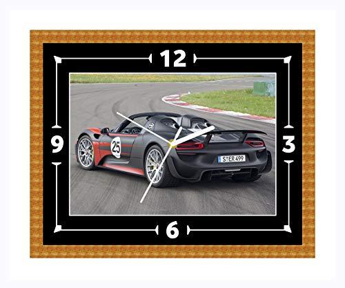 Porsche 918 Spyder Super Auto Wandklok cadeau Kerstmis Verjaardag (Can worden gepersonaliseerd)