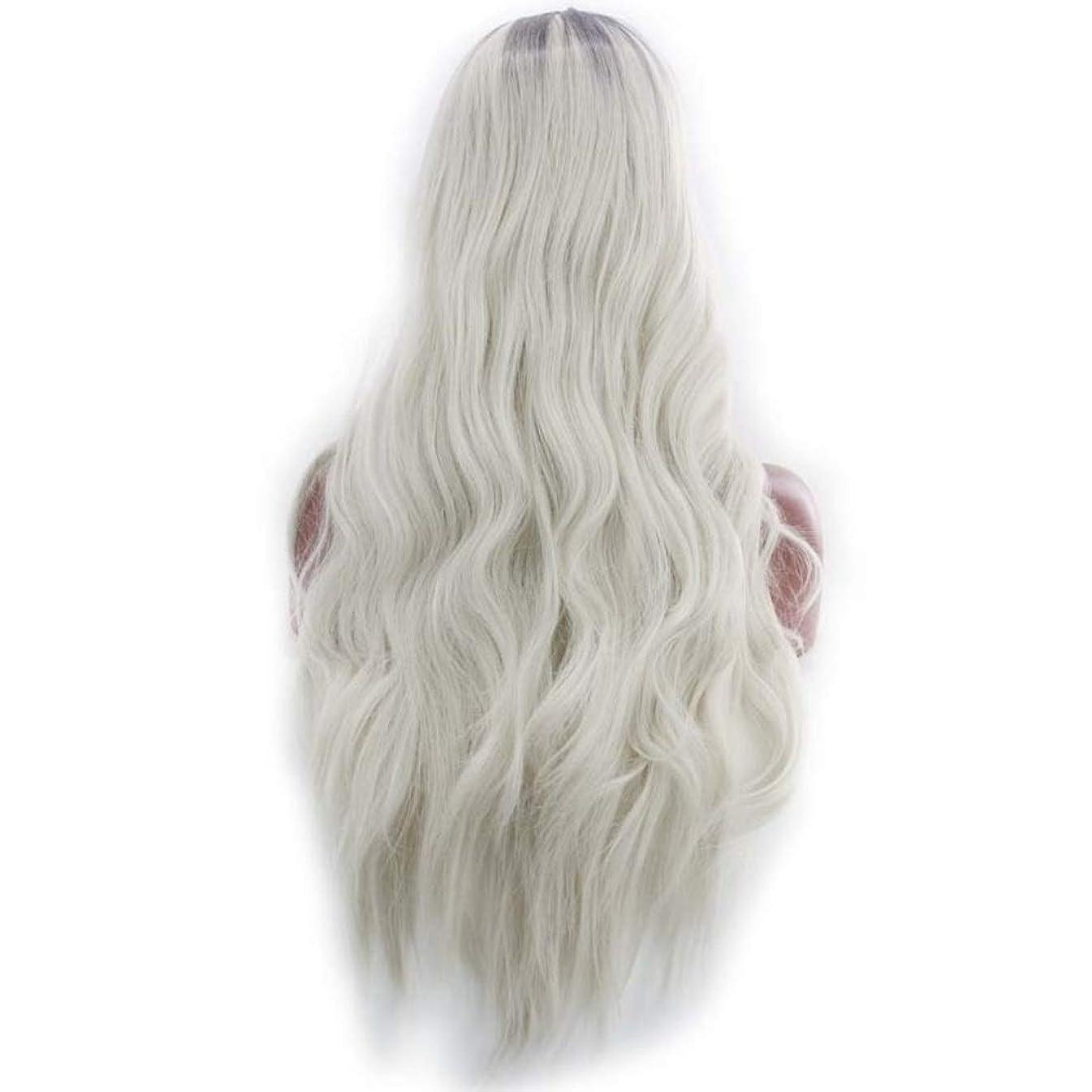 比類なき調整燃やすKoloeplf 女性のためのふわふわの現実的なかつら複数の色で大きな波状の長いかつらかつら耐熱性かつら長さ65 cm