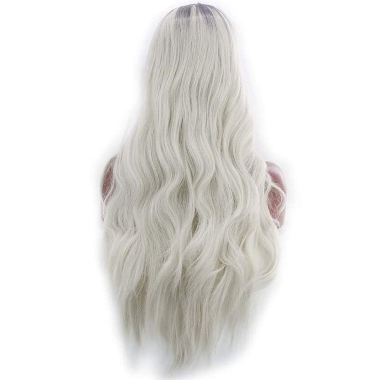 行進リース不安定なKoloeplf 女性のためのふわふわの現実的なかつら複数の色で大きな波状の長いかつらかつら耐熱性かつら長さ65 cm