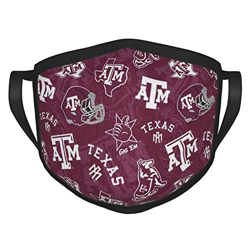 University Texas-A&M University Team Logo, Washable and Reusable Outdoor Mask, Adult Dust-Proof Headscarf, Unisex¡