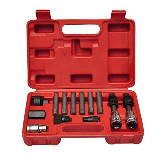 Voupuoda 1 Juego de Acero para el Kit de removedor de Herramienta de Extractor de cojinete Interno de autom/óvil de Motocicleta de 9 mm a 23 mm de di/ámetro