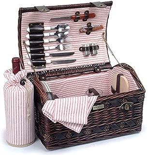 Picnic Beyond Wicker Picnic Basket for 2 PB1-3382B 20pcs Honey Color