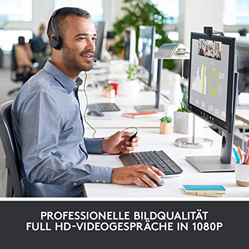 Logitech C920 HD Pro Webcam für Amazon, Full HD 1080p/30fps Video Calling, Klarer Stereo-Sound, HD Lichtkorrektur, Für Skype, Zoom, FaceTime und Hangouts, PC/Mac/Laptop/Macbook/Tablets - Schwarz