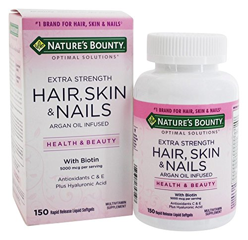 Hair Skin And Nails Nature's Bounty 150 Cápsulas Sabor:Sem sabor