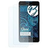 Bruni Schutzfolie kompatibel mit Wiko Rainbow Lite Folie, glasklare Bildschirmschutzfolie (2X)