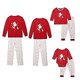 Inlefen Conjuntos de Pijamas Familiares de Navidad Hombres Mujeres Niño Bebé A Juego Nochebuena Ropa de Dormir