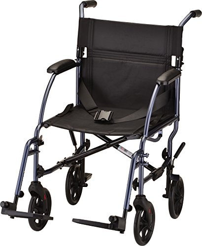 NOVA Medical Products Travel Lightweight Transport Chair, Great for Travel, Blue