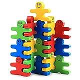 équilibre en bois blocs, Moonvvin 16pcs blocs de construction Jouets en bois bébé Early Educational Brique Jouets puzzle Jeu