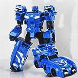 CLNAONG Deformación, Agente Azul Mecha deformación Juguete Robot Secret Toy S Full Set King & Gang (Color : A)