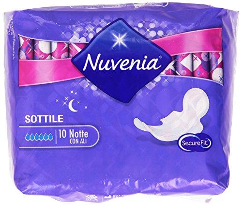 Nuvenia - SecureFit Assorbenti Sottili, Notte con Ali - 10 pezzi