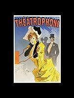 "Jules Cheret - Poster Design For""Theatrophone"" 1896 Mini Poster - 40.5x30.5cm"