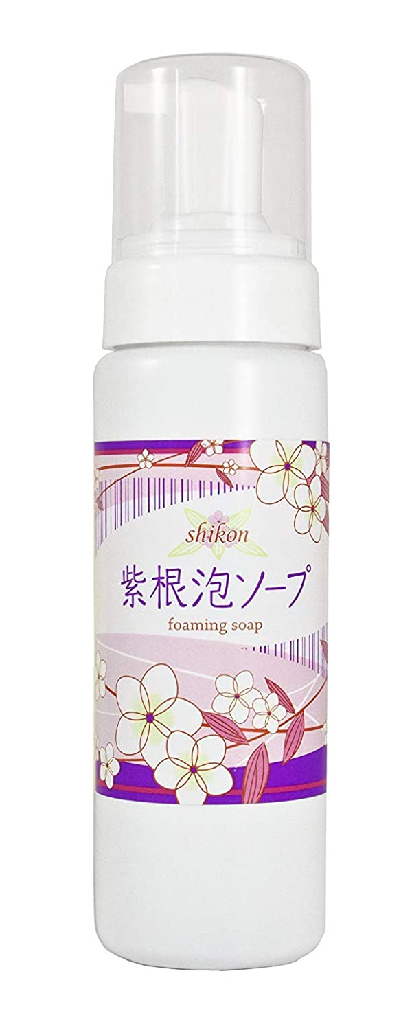 粘り強い論争の的飲料紫根泡ソープ 210g 【あわ洗顔ソープ】