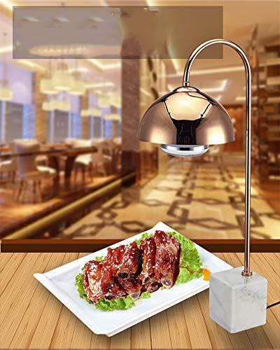 Drxiu Buffet Voeten isolatie tafellamp infrarood warmte-lamp eten warm houden lamp marmer warmlamp 250W elektrische warmtelamp