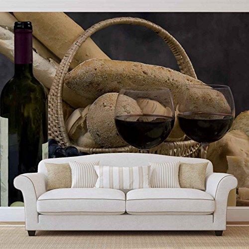 Eten drinken fotobehang wandafbeelding afbeelding behang (101FW) XXXL - 416cm x 254cm
