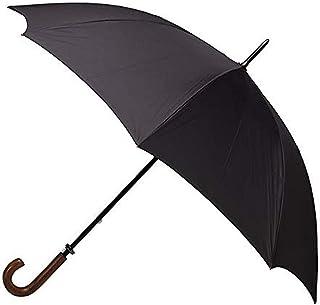 Clifton Umbrellas Black large cover classic look with wood handle Umbrella, Black