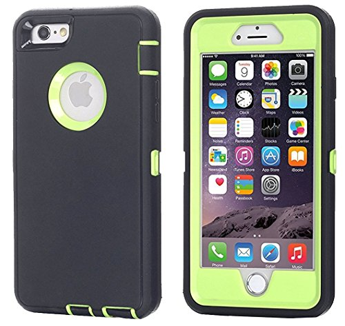 iPhone 6 Case, iPhone 6S Case [Heavy Duty] AICase Built-in Screen Protector Tough 3 in 1 Rugged Shockproof Cover for Apple iPhone 6/6S (Green with Belt Clip)