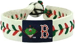 GameWear MLB Leather Wrist Band MLB Team: Boston Red Sox, Style: Mascot