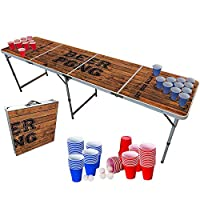 🔝 🚀 PACK COMPLET OFFICIEL : Le pack complet pour jouer au Beer Pong ! Contient 1 Table de Beer Pong homologuée aux World Series, 120 gobelets Américains réutilisables de 53cl (60 Rouges & 60 Bleus pour les 2 équipes) et 6 Balles de Beer Pong. 🎉 🍺 BEE...