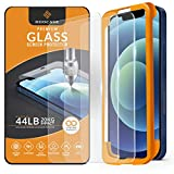ROOCASE Glass Screen Protector for Apple iPhone 12 / iPhone 12 Pro, (6.1 Inch), Case Friendly Tempered Glass Front Cover Protection with Alignment Frame, Pack of 3