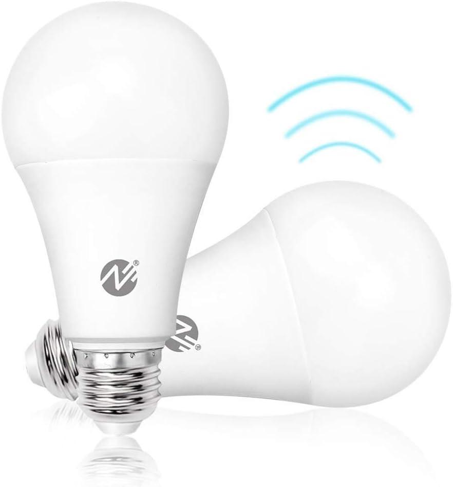 Buy Motion Sensor Light Bulbs Dusk to Dawn LED Light Bulbs Radar ...