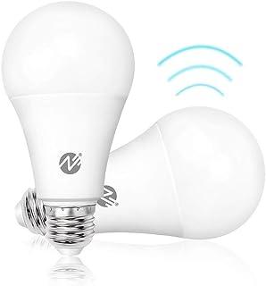 Motion Sensor Light Bulbs Dusk to Dawn LED Light Bulbs Radar Motion Detector Light 100 Watt Equivalent E26 Base A19 Indoor...