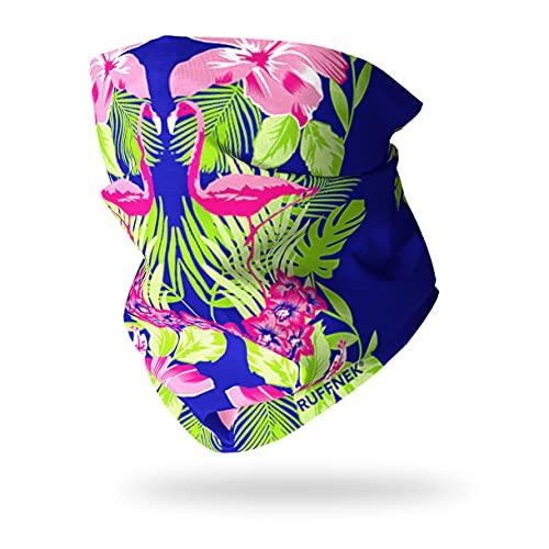 RUFFNEK Tropical Flamingo Cache-Cou / Bandeau / Multifonctionnel Écharpe - Taille Unique pour Femmes et Enfants - Pour le sport et le plein air