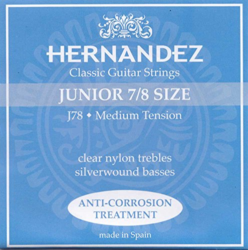 Hernandez »JUNIOR SET J-78-7/8 SIZE - BLAU - MT« Saiten für Konzert-Gitarre 7/8 Größe - Medium Tension