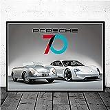 VVSUN Sports Car Dream ha aparecido Durante Mucho Tiempo Impresiones Imagen Lienzo Pinturas Póster para la Sala de Estar Decoración del hogar 50X70cm 20x28 Pulgadas Sin Marco