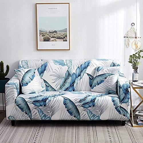 KTUCN Fundas elásticas con Estampado Floral, Funda elástica elástica para sofá, para Sala de Estar Sofá con Forma de L Sillón, color20, 1-Seater 90-140cm