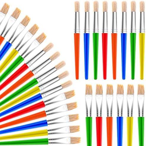 Paint Brushes Anezus 30 Kids Paint Brushes Bulk Children Paint Brushes Set with Jumbo Round product image