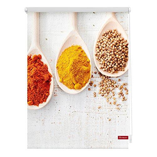Lichtblick KRT.090.150.343 Rollo Klemmfix, ohne Bohren, Blickdicht, Spices - Bunt 90 x 150 cm (B x L)