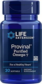 Life Extension Provinal Purified Omega-7, 30 Softgels Package May Vary