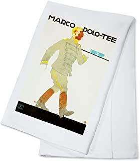 Marco Polo - Tee Vintage Poster (artist: Ludwig Hohlwein) Germany c. 1914 (100% Cotton Kitchen Towel)