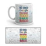 Kembilove Taza de Desayuno para Parejas con Frases Graciosas - Regalo Original Taza diseños Coloridos Enamorados Novios y Novias San Valentín - Taza de café para Regalar Enamorados