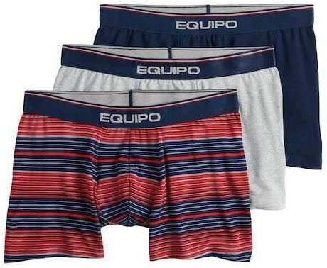 Equipo Mens 3 Pack Boxer Briefs Large/36-38 Grey