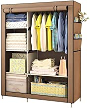 XDDDX Minimalist Reinforced Large Wardrobe Non Woven Foldable Portable Clothing Storage Cabinet Dustproof Cloth Closet