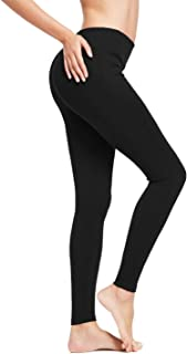 BALEAF Women's Ankle Legging Athletic Yoga Hiking Workout Running Pants Inner Pocket Non See-Through Fabric