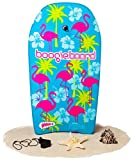Boogie Board 33 Bodyboard - Durable Fiberclad Deck Phuzion Core Leash - Choose Your Graphics (Hawaiian Hipster, Aqua)