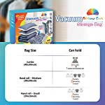 Rainbow Craft 10-PACK Vacuum Storage Bags for Clothes – Space Saver Vacuum Bags for Comforters and Blankets – Storage…