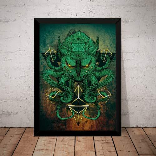 Quadro Decorativo Horror Cthulhu Lovecraft Terror Artistico