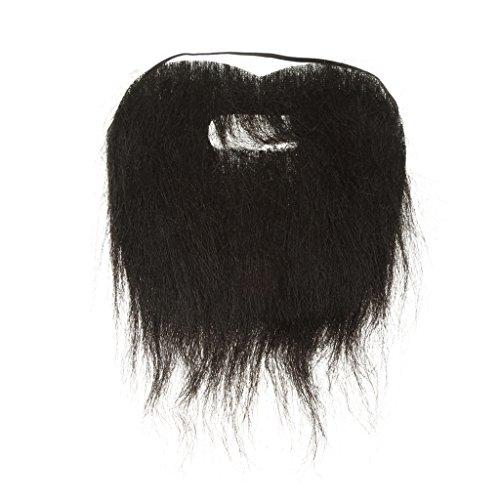 Barbe Postiche Longue Autocollante pour Deguisement Cosplay Costume de Noël Halloween - Noir, 110 cm * 120 cm / 43.3inch * 47.24inch