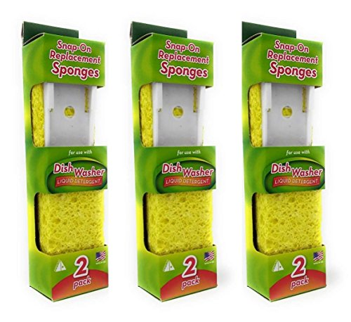 Arrow Plastic Dishwasher Replacement Sponge #00008 (Pack of 3)
