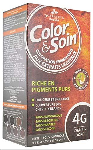 Les 3 Chênes Color & Soin Coloration Femme - Châtain Doré : 4G