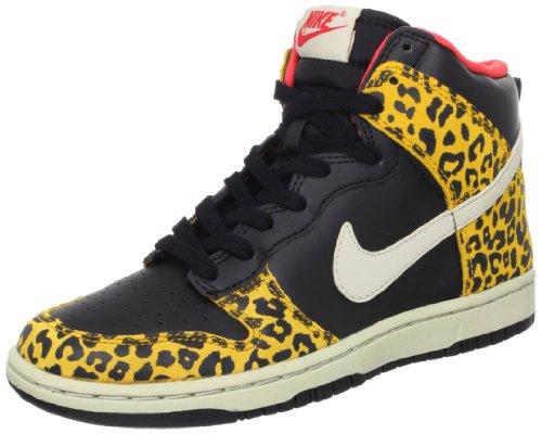 Nike Damen Wmns Dunk High Skinny, Schwarz / SNDTRP – DRK GLD LF-SNMRST, (Schwarz/Dunkel G), 35.5 EU