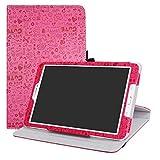 LFDZ Galaxy Tab E 9.6 Rotante Custodia, Slim Girevole Smart 360 Gradi di Rotazione Case Cover Custodia Protettiva per Samsung Galaxy Tab E 9.6' SM-T560 SM-T561 Tablet,Magenta